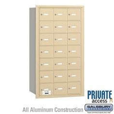 4B+ Horizontal Mailbox - 21 A Doors - Sandstone - Rear Loading - Private Access by Salsbury Industries. $661.50. 4B+ Horizontal Mailbox - 21 A Doors - Sandstone - Rear Loading - Private Access - Salsbury Industries - 820996418777