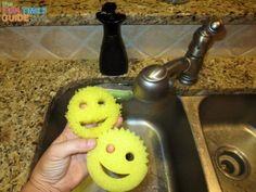 I use Scrub Daddy sponges in the kitchen and bathroom - Scrub Daddy Uses: 50+ Creative Ways To Use A Scrub Daddy Sponge!