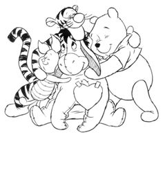 Winnie the Pooh And his friends Coloring page