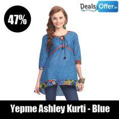 Yepme Ashley Kurti – Blue @ 47% Off