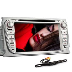 Generic 7 Inch In Dash  Car DVD Player GPS Navigation Digital Touchscreen for Focus White with Rear Camera