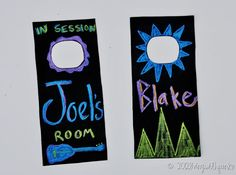 chalk cloth door hanger