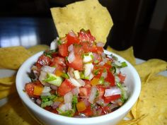 Authentic Pico de Gallo (Fresh Salsa) Recipe - We made this last night and we definitely thought it was the best pico we've ever had. We used 4 scotch bonnet peppers in it but it wasn't unbearably hot. I wouldn't change a thing! Homemade Mexican Salsa, Mexican Salsa Recipes, Mexican Dips, Homemade Guacamole, Guacamole Recipe, Mexican Party, Tapenade, Fresh Salsa Recipe, Cooking Recipes