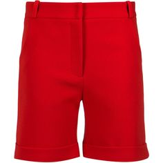 Olympiah tailored shorts (€185) ❤ liked on Polyvore featuring shorts, red, tailored shorts, mid rise shorts and red shorts
