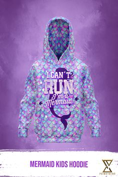 Grab this Mermaid Kids Hoodie today! Limited time only! Mermaid Kids, Hoodies, Sweatshirts, Kids Outfits, Kids Fashion, Graphic Sweatshirt, Sweaters, Collection, Parka