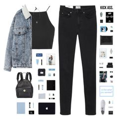 """IS THIS THE REALITY YOU WANTED?"" by c-hristinep ❤ liked on Polyvore featuring Topshop, Acne Studios, adidas, NARS Cosmetics, OXO, Cellex-C, Ray-Ban, Christy, Komono and Lulu Guinness"