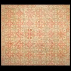 Needlepoint Rug - 17484 | European 14' 4'' x 18' 8'' | Ivory, Origin France, Circa: 1870