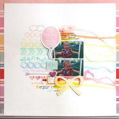 #papercraft #Scrapbook #layout.  Dreamy by Kotlyarova at @studio_calico