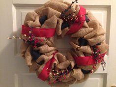 Patriotic Wreath Fourth of July Wreath Burlap by JAMDesignsNJ, $55.00