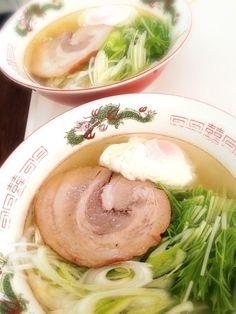 ご主人様のチャーシューまだまだあるよー♪( ´▽`) - 43件のもぐもぐ - 塩ラーメン  ご主人様のチャーシューのっけ(*^◯^*) by fntsukosan