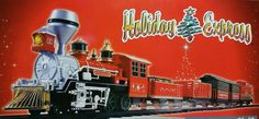 Holiday Express Christmas Train Set Lights Sound 29pc Engine 4 Cars Caboose NEW #Goldlok