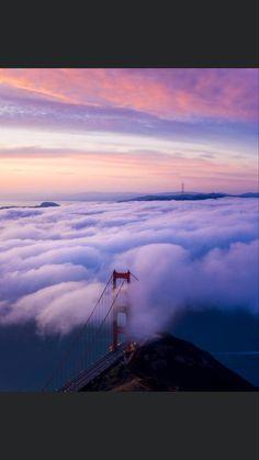 Golden Gate Bridge, Mountains, Nature, Travel, Painting, Naturaleza, Viajes, Painting Art, Destinations