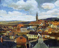 エゴン・シーレ 「絵画クラスルームからの眺め、クロスターノイブルク」 1905 |37x46cm |ニーダー・ザクセ州立美術館、ハノーファー