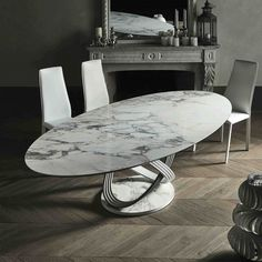 Bontempi Casa Fusion Oval Table