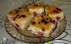Grízes-túrós-meggyes rétes recept fotóval Hungarian Recipes, Tapas, Muffin, Breakfast, Cake, Food, Morning Coffee, Food Cakes, Eten