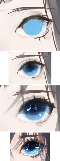 Manga yeux bleu