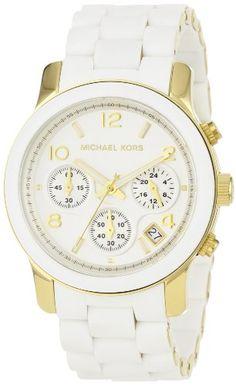 http://goo.gl/WTYHj. Michael Kors Watches White PU Runway