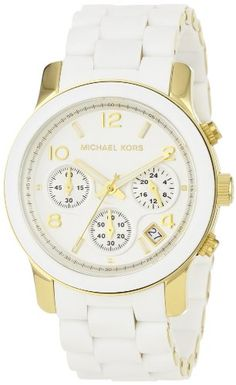 Michael Kors MK5145 Women's Two Tone Stainless Steel Quartz Chronograph White Dial Watch - Find Me The Cheapest Price	: $173.50