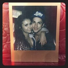 Pin for Later: Go Behind the Scenes of Nina Dobrev's Final Days on the Vampire Diaries Set  Aww! Dobrev also posted this funny video of her and Michael Trevino after shooting their last scene.