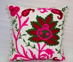 Designer Hand Made Work Cushion from Vintage Handicrafts