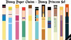 Disney Paper Chains - Princesses Set #100DaysOfDisney