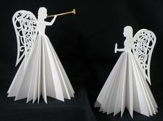 Paper Angels. Click on link for free cutting files. http://teamknk.com/paper-angels/