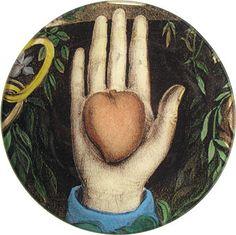 Heart in Hand, John Derian Decoupage Rounds