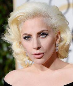 Make de Lady Gaga no Golden Globe Awards 2016.