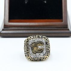 Calgary Flames 1989 NHL Stanley Cup Championship Ring for Sale Click Bio to Buy #calgaryflames #flamesgame #flamesnation #NHL #stanleycup #hockey #nhlplayoffs #stanleycupplayoffs #icehockey #nhl16 #hockeylife #hockeygame #stanleycupchampions #championshipring #nhlflames