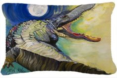 Alligator Canvas Fabric Decorative Pillow JMK1004PW1216