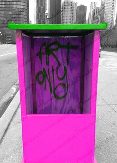"Chicago Graffiti ""Art Only"" Trolley Box on Navy Pier      I can ship photographs in available sizes:    4x6  5x7  8x10    Other sizes may result in different prices. Please contact me with any pricing, sizing, or shipping questions.    Please let me know which variation you would like to order."
