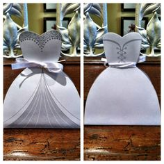 What a great idea for bridal shower/ luncheon party favors! Hidden in the skirt are mini chocolates...