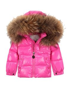 Kids Girls &Boys Winter Hooded Quilted Duck Down Feather Coat With ...