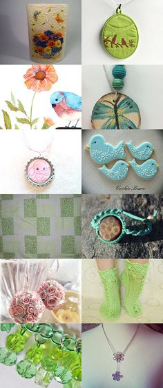 Spring is in the Air! by Bridget Corbett on Etsy--Pinned with TreasuryPin.com