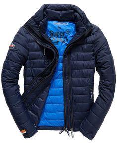Mens - Fuji Triple Zip Jacket in Midnight Blue | Superdry