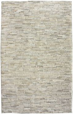 Rugs USA Alabaster Cow Hide Patchwork II Beige Rug-janell, dining room?
