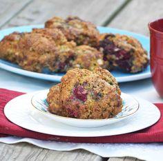 Whole Wheat Oatmeal Raspberry Ginger Scones