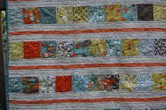 fast quilt. I like the coordinating orange line
