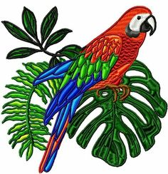 Beautiful parrots www.pamelasembroidery.com