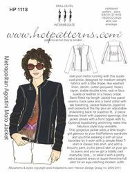 Sewing Pattern: Metropolitan Agostini Moto Jacket. If you love to sew your own clothes, you'll love http://www.sewinlove.com.au/category/fashion/