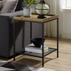 End & Side Tables You'll Love in 2019 Side Table Decor, Table Decor Living Room, Living Room End Tables, Tray Decor, Home Living Room, Diy End Tables, Metal End Tables, End Tables With Storage, Side Tables
