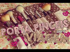 DIY | Porta pinceis para viagem ♥ - YouTube