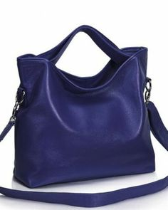 Chancebanda Solid Color Pebbled Leather Tote