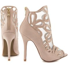 Chinese Laundry Women's Jaiden - Pale Nude Micro Suede ($86) ❤ liked on Polyvore featuring shoes, pumps, peep-toe pumps, high heel peep toe pumps, nude high heel pumps, peep-toe shoes and synthetic shoes