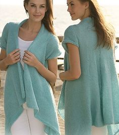 Free knitting pattern for Fly Away Cardigan and more draped cardigan knitting patterns