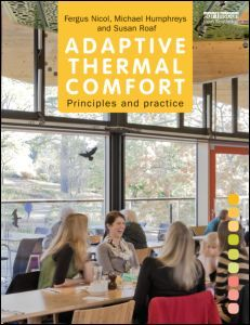 """Adaptive Thermal Comfort"" by Fergus Nicole, Michael Humphreys, and Susan Roaf is the first in a trilogy that explains, in a clear way, how we stay comfortable by using our bodies, minds, buildings, and their systems to adapt to indoor and outdoor conditions which change with the weather and the climate. It introduces the principles on which the theory of adaptive thermal comfort is based and explains how to use field studies to measure thermal comfort in practice and to analyze the data."