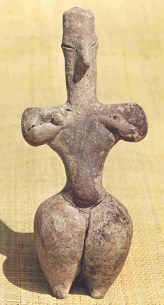 Neolithic Figurine From: Nea Nikomedia Ancient Artefacts, Ancient Civilizations, Ancient Goddesses, Gods And Goddesses, Art Antique, Mother Goddess, Historical Artifacts, Art Sculpture, Ancient Aliens