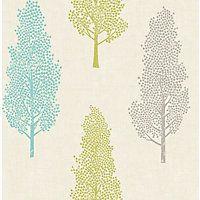 Fine Decor Kalmar Green & Blue Wallpaper