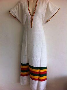 ETHIOPIAN COFFEE DRESS RASTA COLOUR $24.99