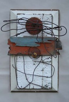 Abby Rieser: Assemblage and Found Object Sculpture Found Object Art, Found Art, Wall Sculptures, Sculpture Art, Steampunk Crafts, 3d Wall Art, Assemblage Art, Box Art, Altered Art